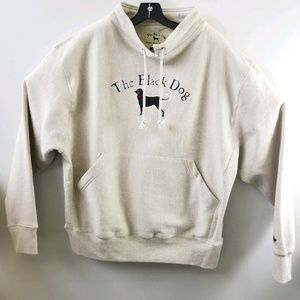 The Black Dog Mens L Pullover Gray Kangaroo Pocket